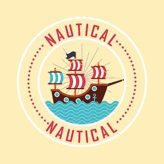 Nautisch maritiem ontwerp