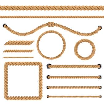 Nautische gedraaide touwknopen
