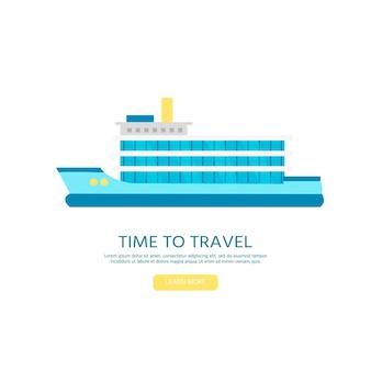 Nautische voertuigen: zeilboot, schip, vaartuig, luxejacht, speedboot. vector plat pictogram geïsoleerd op een witte achtergrond