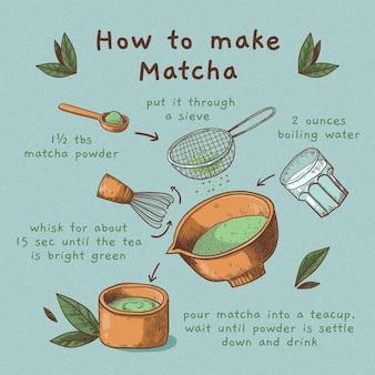 Nauwkeurig recept voor het maken van matcha