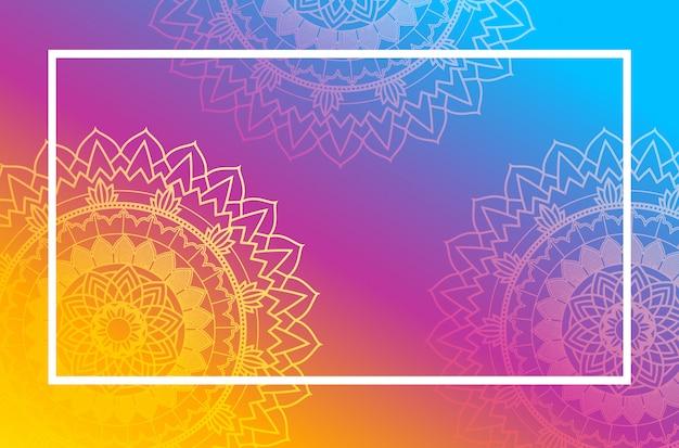 Navaratri poster met mandala patroon