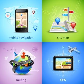 Navigatie concept set