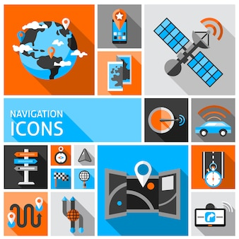 Navigatie icons set