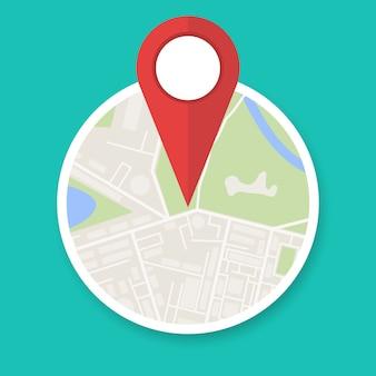 Navigatie kaartpictogram