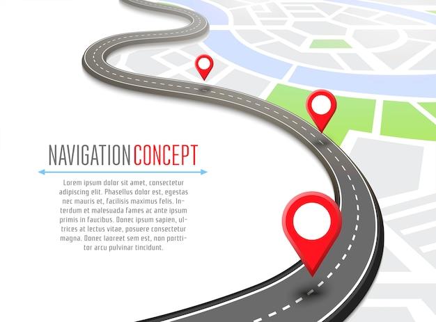 Navigatie met pin pointer