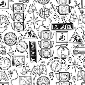 Navigatie naadloos patroon