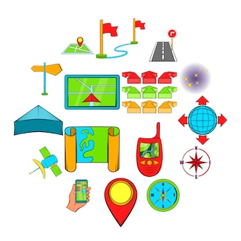 Navigatie pictogrammen instellen