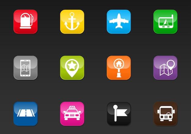 Navigatie professionele webpictogrammen voor uw ontwerp