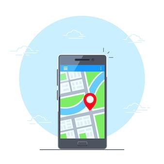 Navigatietoepassing op mobiele telefoon
