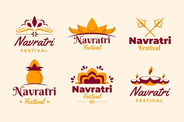 Navratri badges collectie