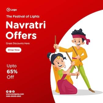 Navratri biedt een ontwerpsjabloon voor spandoeken
