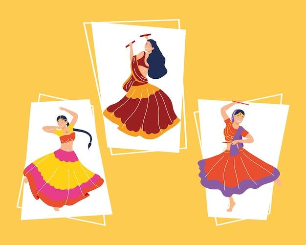 Navratri danseressen