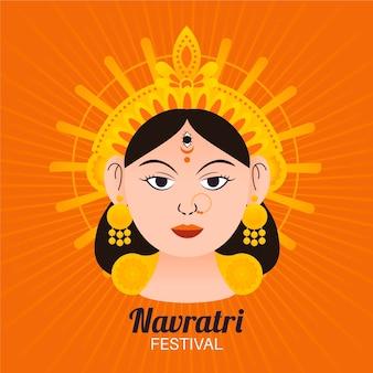 Navratri festival illustratie