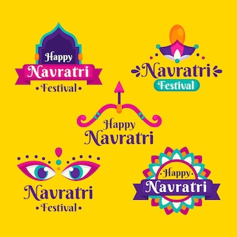 Navratri labels-collectie