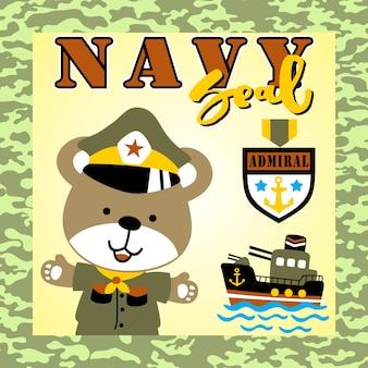 Navy zegel cartoon
