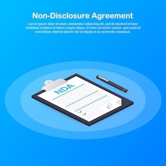 Nda ondertekenen. niet-openbaarmakingsovereenkomst document ..