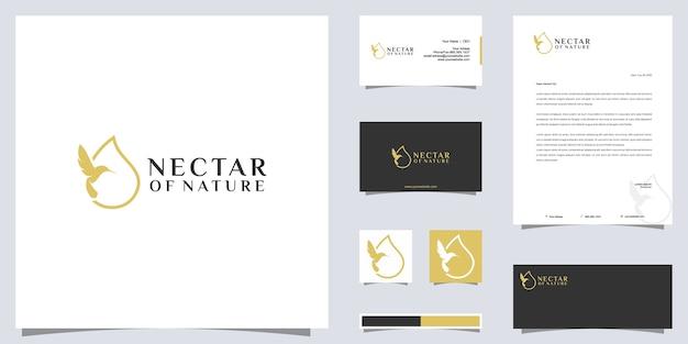 Nectar of nature logo en merkidentiteitsontwerp