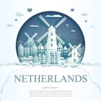 Nederland oriëntatiepunt illustratie
