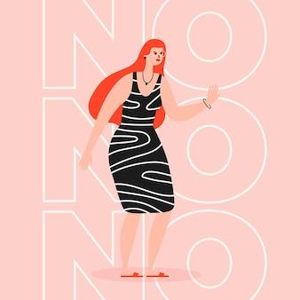 Nee betekent geen illustratie