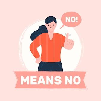 Nee betekent geen illustratieconcept