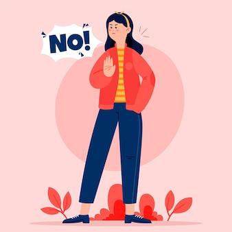 Nee betekent nee met vrouw