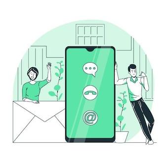 Neem contact met ons concept illustratie