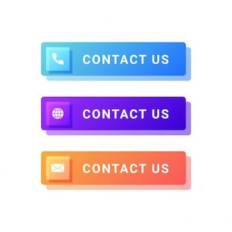 Neem contact met ons knoppen illustratie