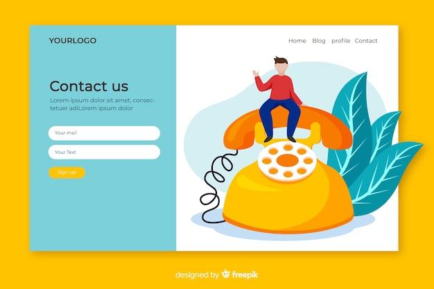 Neem contact met ons op concept voor bestemmingspagina