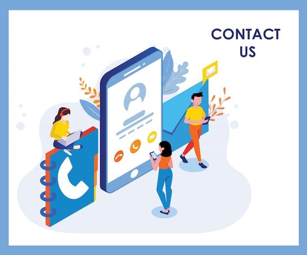 Neem contact met ons op illustratie