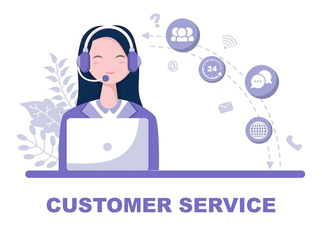 Neem contact met ons op klantenservice illustratie