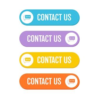 Neem contact met ons op knop illustratie op witte achtergrond