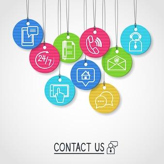 Neem contact met ons op met kartonnen labels en tags