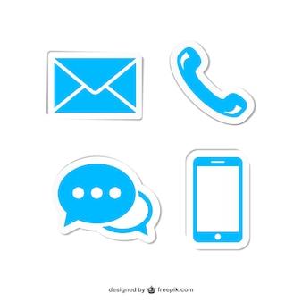 Neem contact op met blauwe pictogrammen