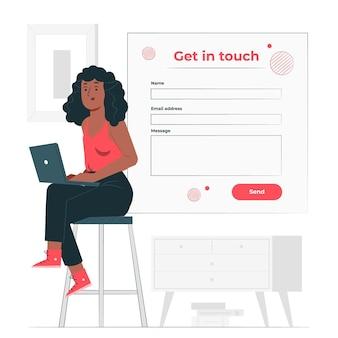 Neem contact op met concept illustratie