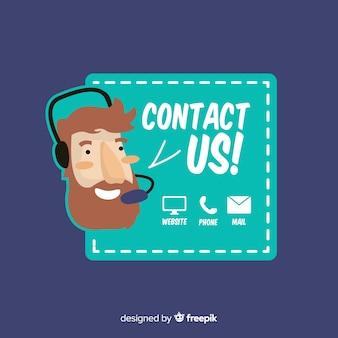Neem contact op met ons achtergrondontwerp
