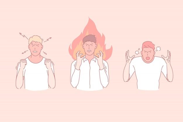 Negatieve emoties illustratie