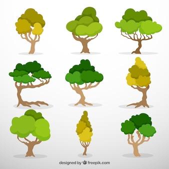Negen lommerrijke bomen