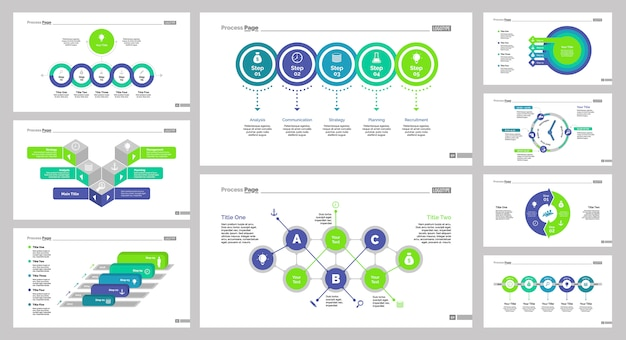 Negen marketing slide templates set
