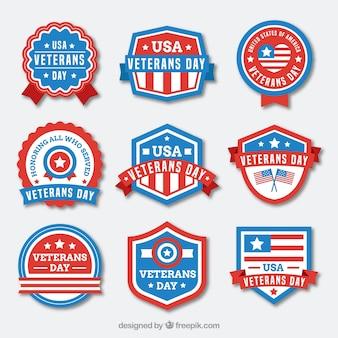 Negen veteranen dag labels