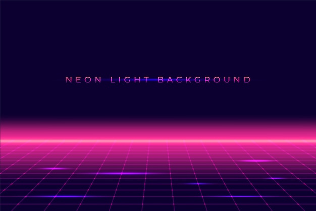 Neon 3d achtergrond landschap 80s style