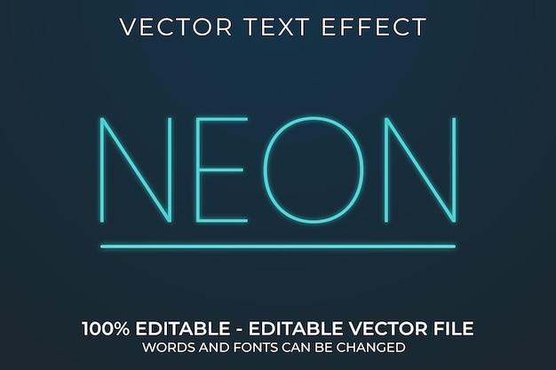 Neon 3d bewerkbaar teksteffect