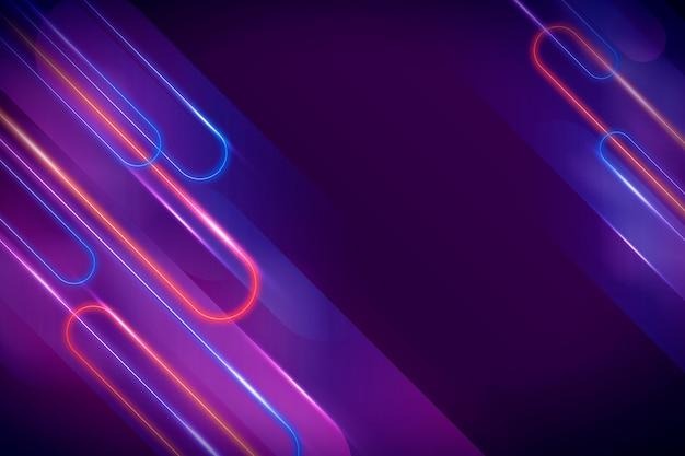 Neon abstracte lichte achtergrond Gratis Vector