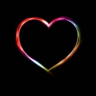 Neon achtergrond van het hart