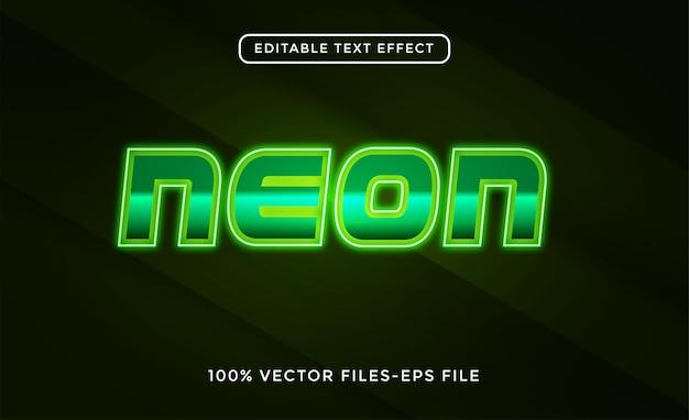 Neon bewerkbare teksteffect vectoren