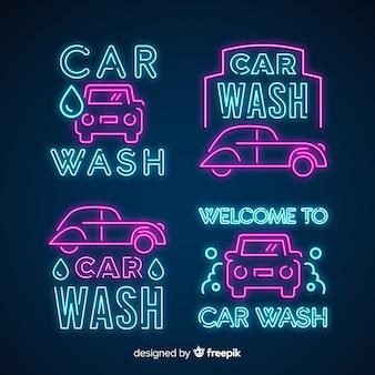Neon car wash tekenpakket