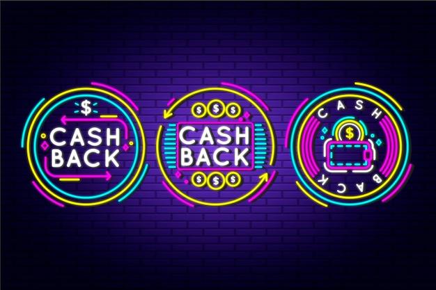 Neon cashback-tekenpakket