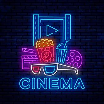 Neon cinema-elementen