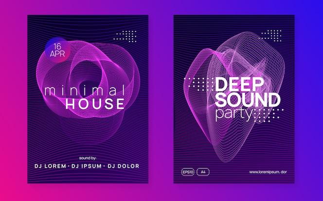 Neon club poster set.