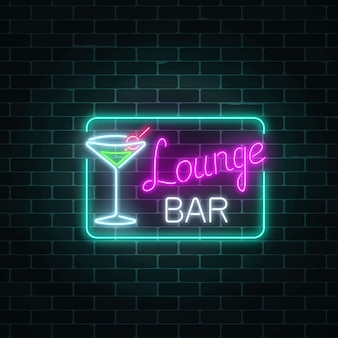 Neon cocktails loungebar inloggen rechthoekkader.