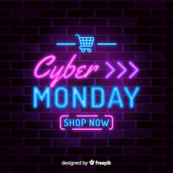 Neon cyber maandag met speciale aanbieding